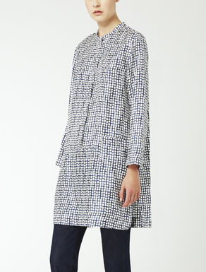 Silk twill tunic shirt