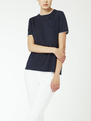 Linen yarn knit T-shirt