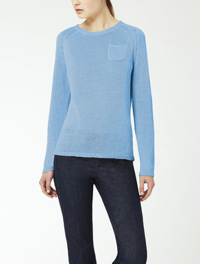 Linen yarn knit jumper