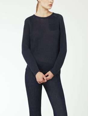 Linen yarn knit jumper