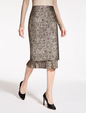 ポリエステル ジャカードタイト スカート