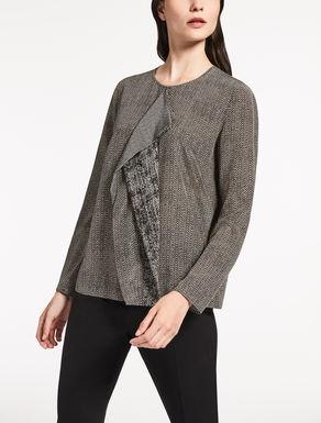 Blusa de crepé de China de seda