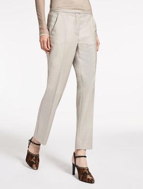Pantalón de lana y seda