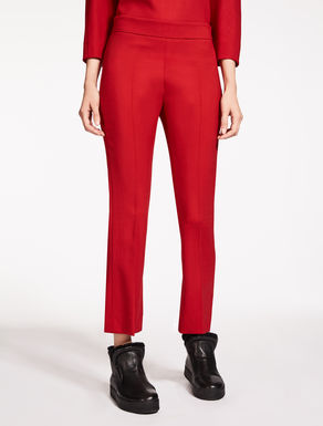 Wool crêpe trousers