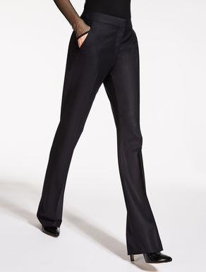 Pantaloni in lana e seta