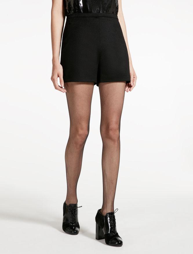 Camel hair Bermuda shorts