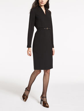 Pure granité-woven wool dress