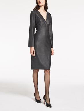 Vestido de lana y seda