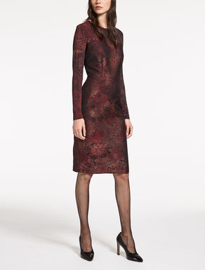 Jacquard and viscose jersey dress