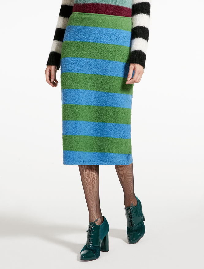 Wool and angora skirt