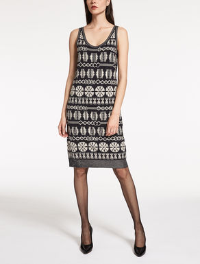 Jacquard wool dress