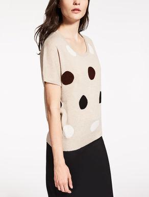 Camiseta de cachemira y seda