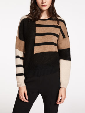 Wool, cashmere and mohair sweater