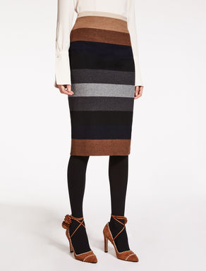 Falda de jersey de lana