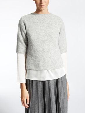 Wool and alpaca knit shirt