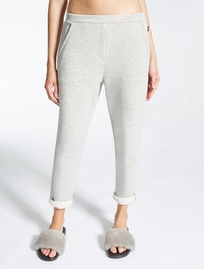 Cotton fleece trousers