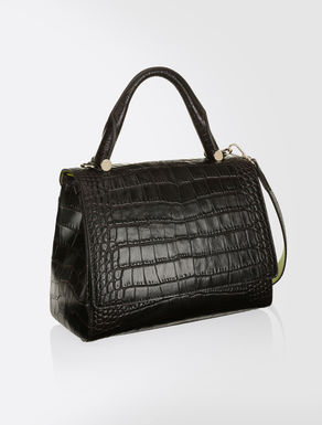 Crocodile-print leather JBag