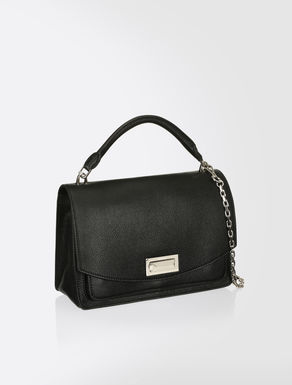 Printed leather bag