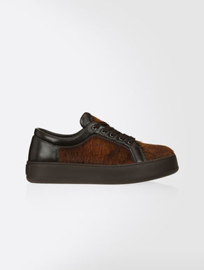Pony-skin and nappa sneakers