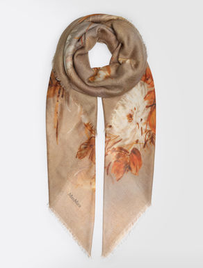 Silk, wool and cashmere scarf