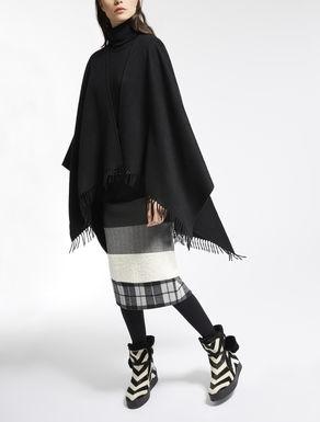 Pure cashmere cape