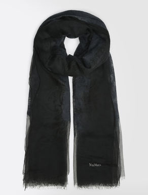 Silk and wool stole