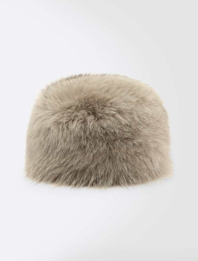 Fox fur ushanka hat