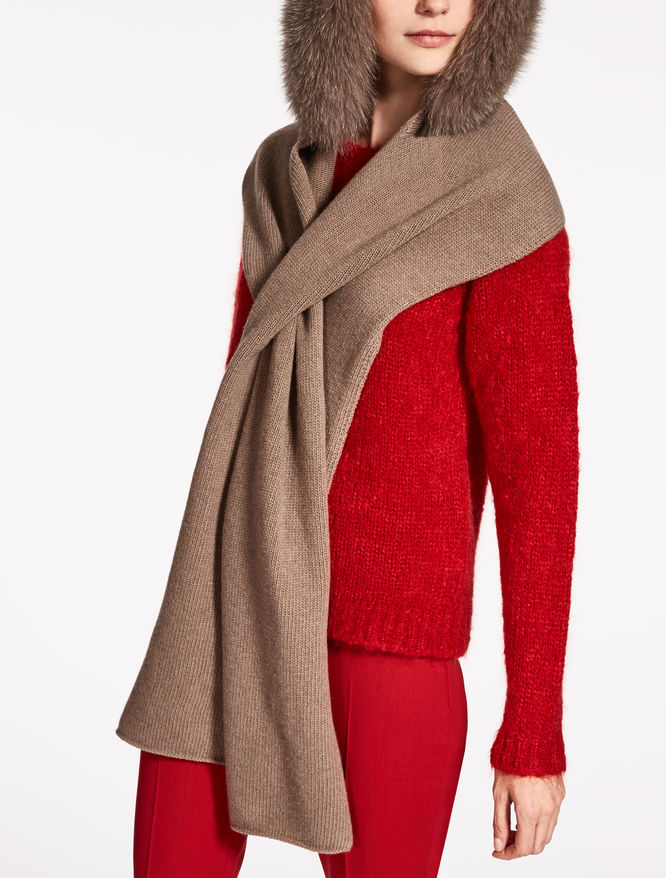 Wool and cashmere hood