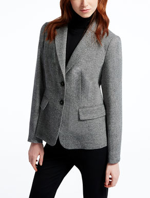 Silk and wool tweed jacket