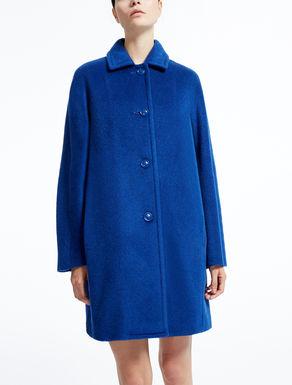 Cappotto in lana, mohair e alpaca