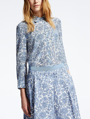 Camisa de crepé de China de seda
