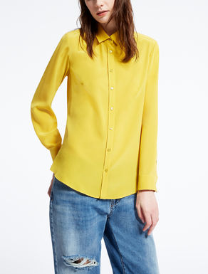 Pure silk crêpe de chine shirt