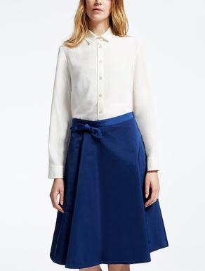Camisa de crepé de China de pura seda