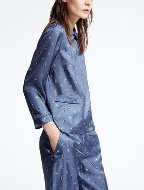 Silk twill blouse
