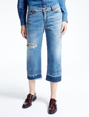 Cropped boy-fit jeans