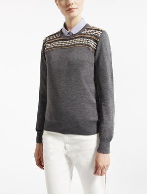 Pure wool knit shirt