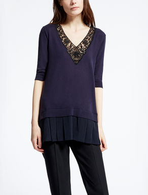 Silk and cotton knit shirt