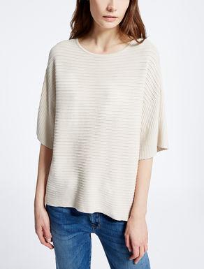 Viscose ottoman sweater