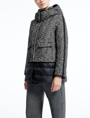 Wool and cotton down jacket.