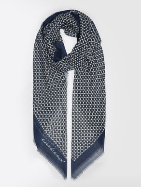 Printed fabric scarf