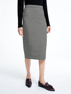 Wool tube skirt