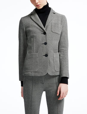 Jacquard jersey jacket