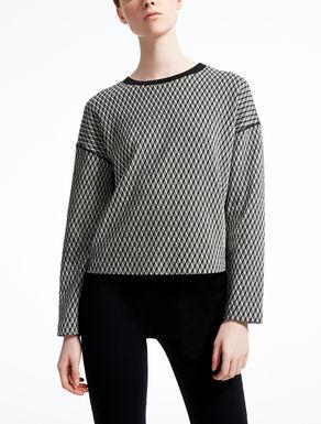 Jacquard wool sweatshirt