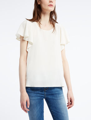 Silk crêpe de chine T-shirt