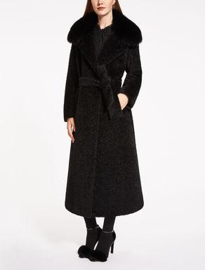 Mantel aus Suri-Alpaka und Wolle