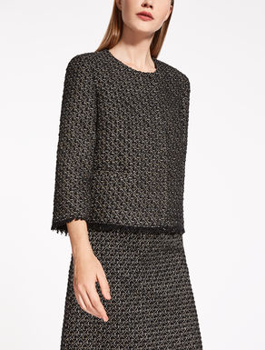 Giacca in cotone e lana