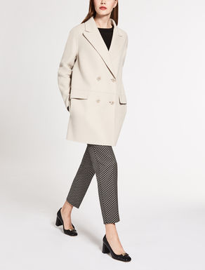Lange Jacke aus Wolle und Kaschmir