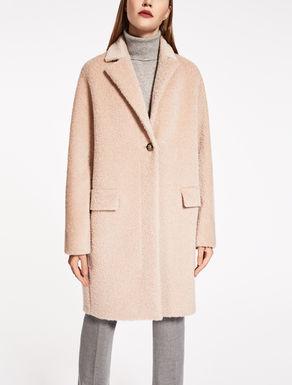 Lange Jacke aus Suri-Alpaka und Wolle
