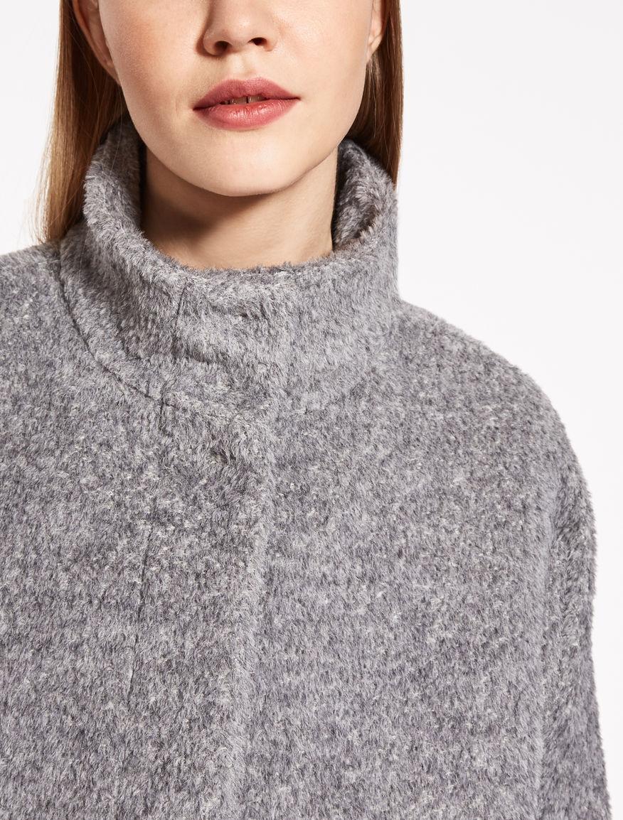 suri alpaca and wool coat light grey calore max mara. Black Bedroom Furniture Sets. Home Design Ideas