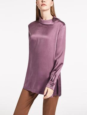 Bluse aus Seidensatin